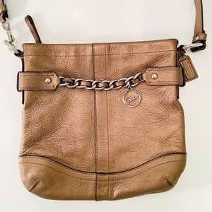 COACH Leather Handbag Chain CrossBody Bag F19722